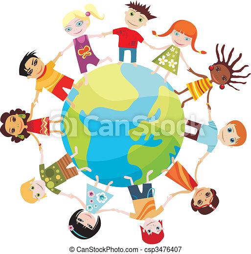 世界, 孩子 - csp3476407