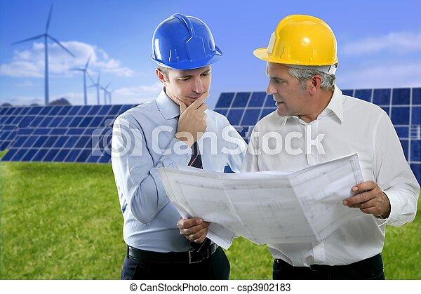 二, 建筑師計划, 太陽, 盤子, hardhat, 工程師 - csp3902183