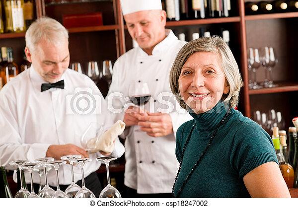 人員, 經理, 酒 酒吧, 餐館 - csp18247002
