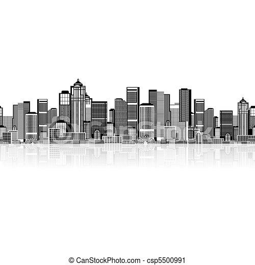 你, 藝術, 背景, seamless, 都市風景, 城市的設計 - csp5500991