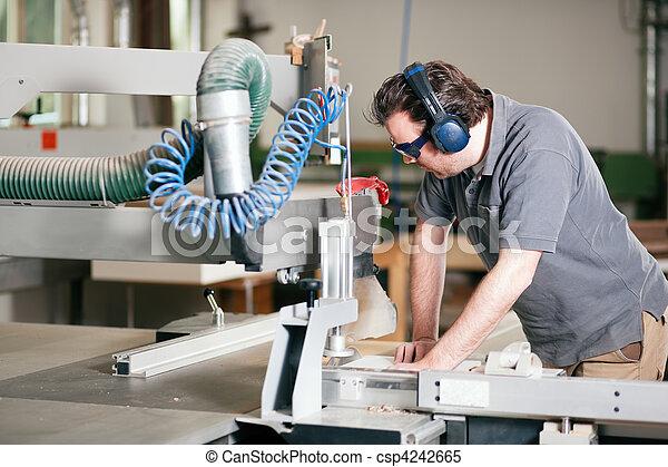使用, 看見, 木匠, 電 - csp4242665