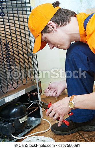 修理, 工作, 用具, 冰箱 - csp7580691