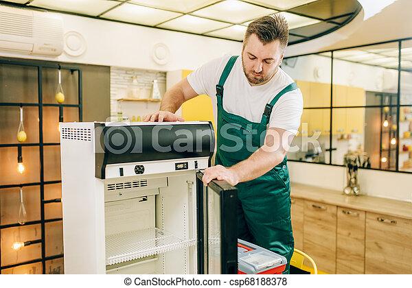 修理, 工具箱, 工人, 冰箱, 家 - csp68188378