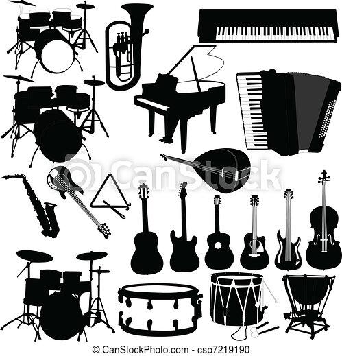 儀器, 矢量, -, 音樂 - csp7219190
