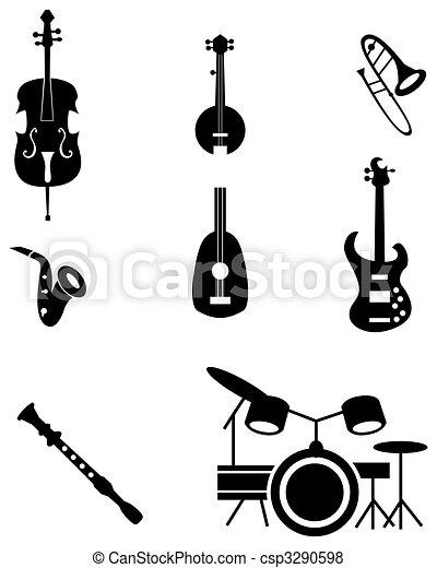 儀器, 集合, 音樂, 圖象 - csp3290598