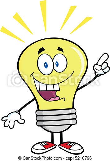 光, 明亮的想法, 燈泡 - csp15210796