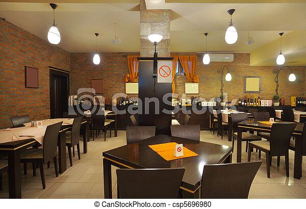 內部, 餐館 - csp5696980