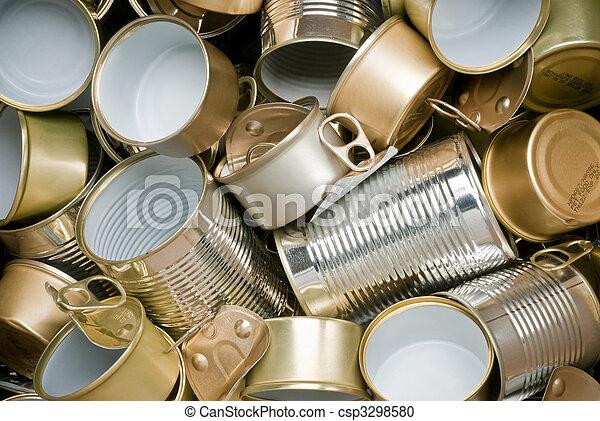准備好, 錫, 再循環, 罐頭 - csp3298580