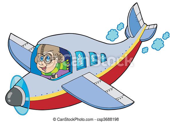卡通, 飛行員 - csp3688198