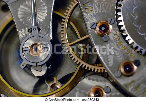 口袋, 老, motion., 觀看, 調速輪, 內部, 射擊 - csp2803431