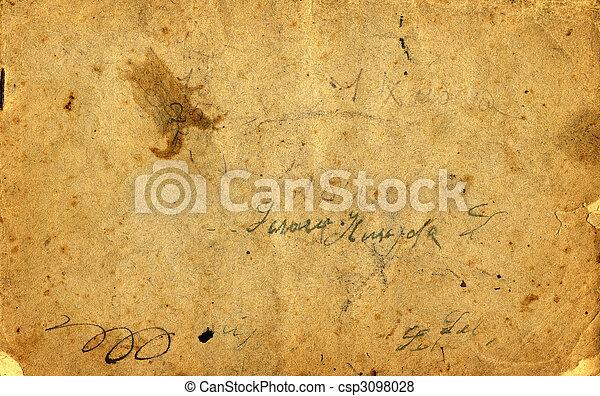 古董, 紙 - csp3098028