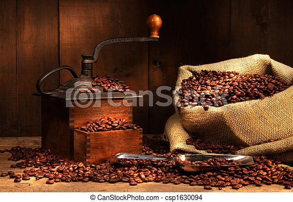 古董, 豆, 咖啡磨工 - csp1630094