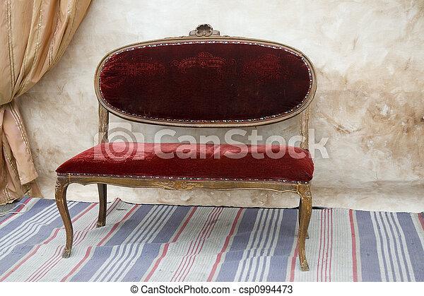 古董, 長凳 - csp0994473
