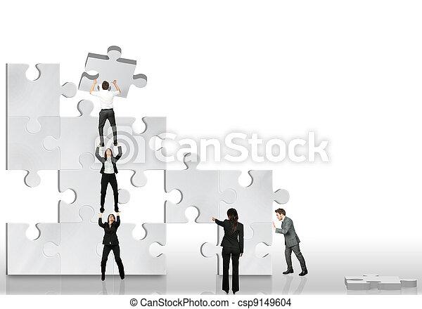 合伙人, 工作, 事務, 一起 - csp9149604