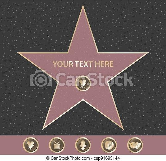 名聲, 好萊塢, 步行, 星 - csp91693144
