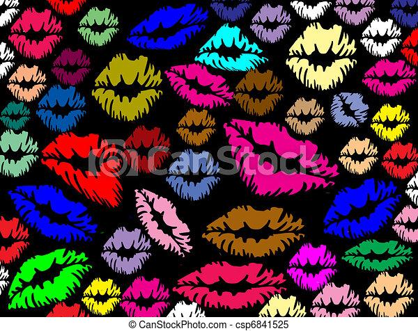 嘴唇, 列印, 鮮艷 - csp6841525