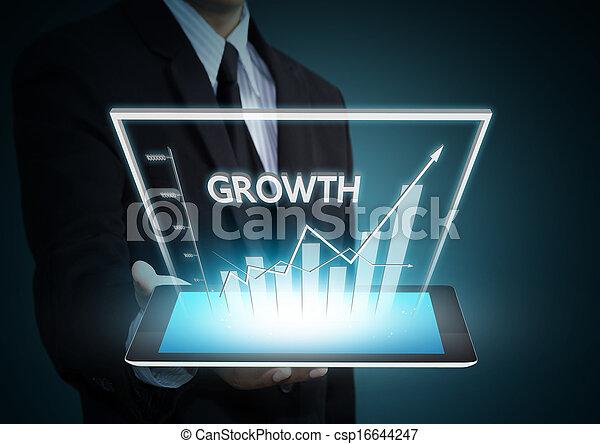 圖表, 成長, 技術, 片劑 - csp16644247