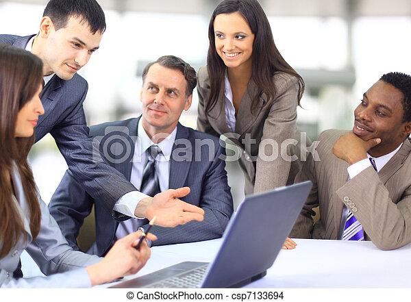 多, 事務, 种族, 執行, 討論, 工作, 會議 - csp7133694