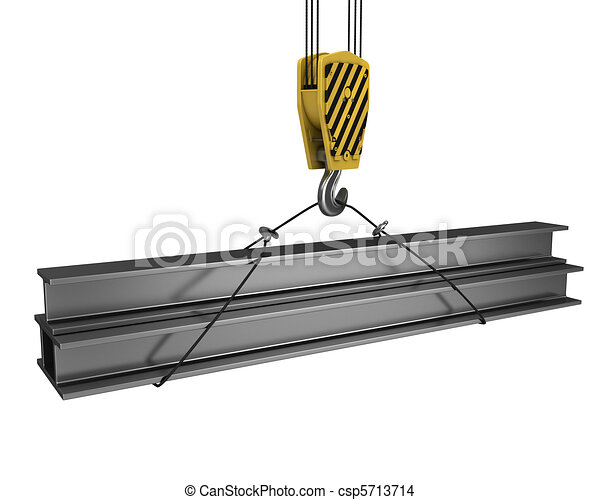 大梁, 極少, h, 向上, 鉤, 舉起, 起重機 - csp5713714