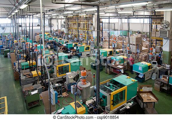 大, 注射, 工廠, 機器, 鑄造 - csp9018854