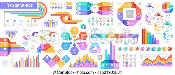 大, 集合, 矢量, infographic, 元素 - csp81902884