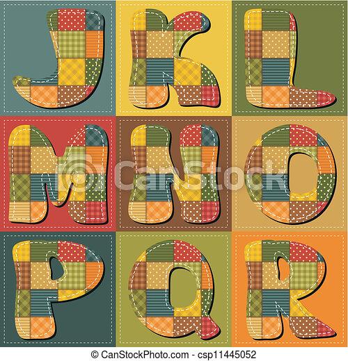 字母表, 剪貼簿, 補綴品 - csp11445052