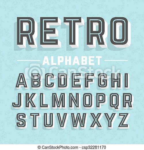 字母表, 風格, retro - csp32281170