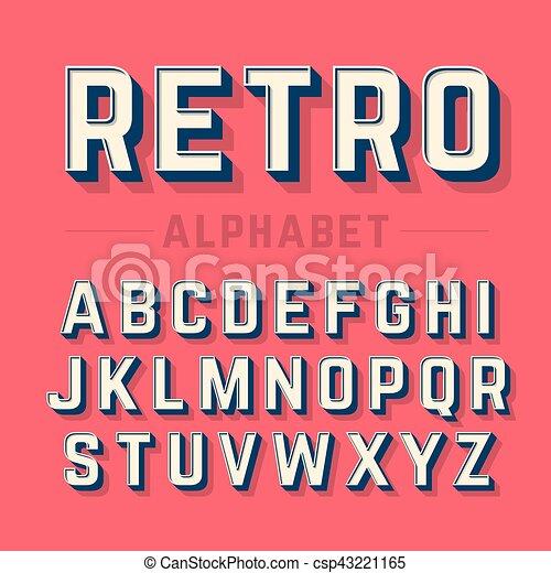 字母表, 風格, retro - csp43221165