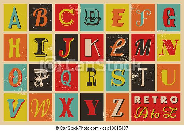 字母表, 風格, retro - csp10015437