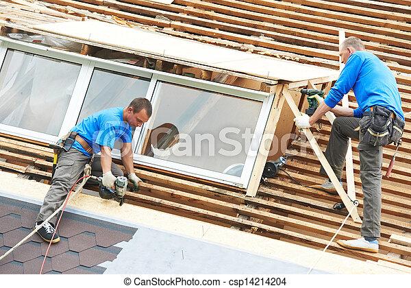 屋頂, 工作, 屋頂, 屈曲 - csp14214204