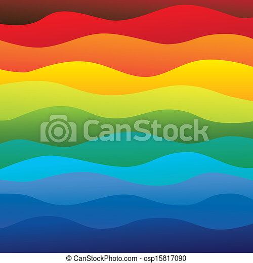 層, 彩虹, 鮮艷, &, 這, 震動, 摘要, 包含, -, 光譜, 插圖, 海洋水, 顏色, 矢量, 光滑, 背景, 波浪, (backdrop), graphic. - csp15817090