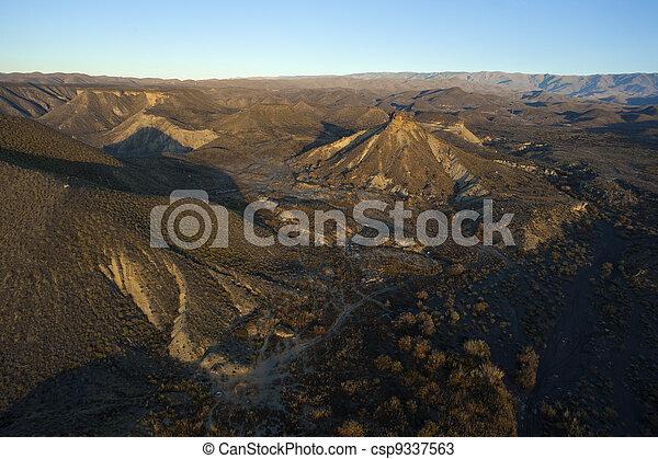 山, 空中, 沙漠, 看法 - csp9337563