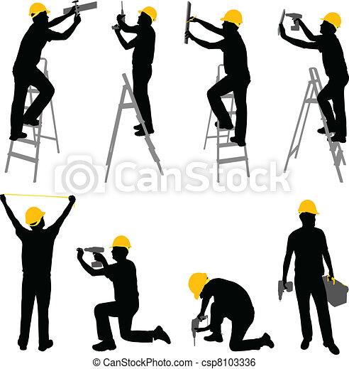 工人, 建設 - csp8103336