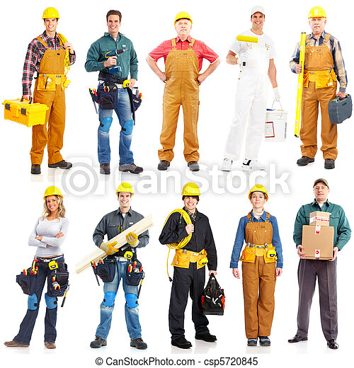 工人, 承包商, 人們 - csp5720845