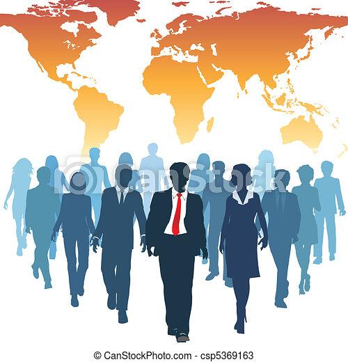 工作, 商業界人士, 全球, 人類, 隊, 資源 - csp5369163