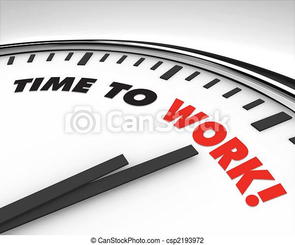 工作, -, 時間鐘 - csp2193972