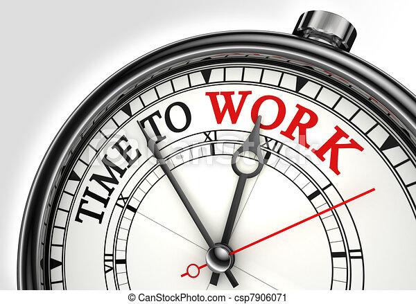 工作, 概念, 時間鐘 - csp7906071