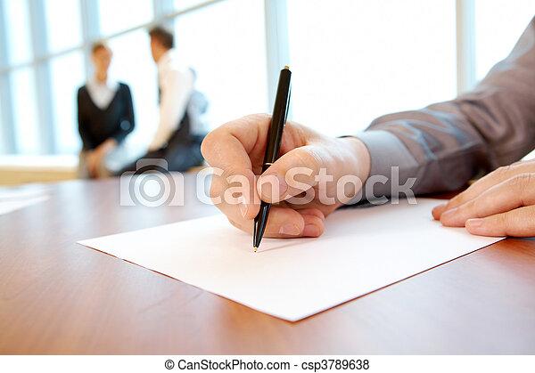 工作, 計劃, 寫 - csp3789638