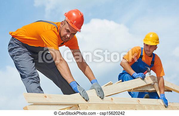 工作, roofers, 屋頂, 木匠 - csp15620242