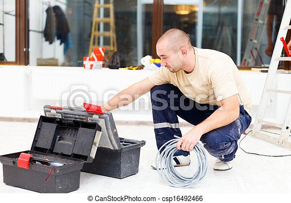 工具箱, 他的, 服務, 人 - csp16492466