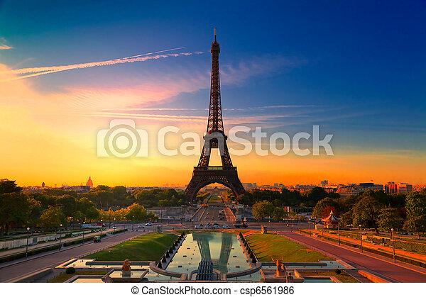 巴黎, 法國 - csp6561986