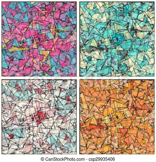 幾何學, 矢量, 背景, 插圖, 彙整 - csp29935406