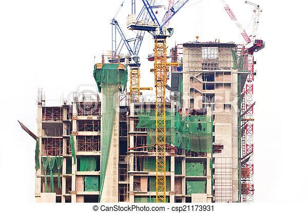 建設, 建筑物。 - csp21173931