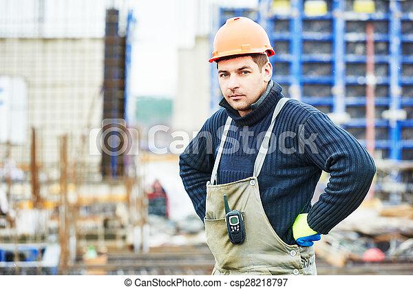 建設, 建造者, 工人, 站點 - csp28218797