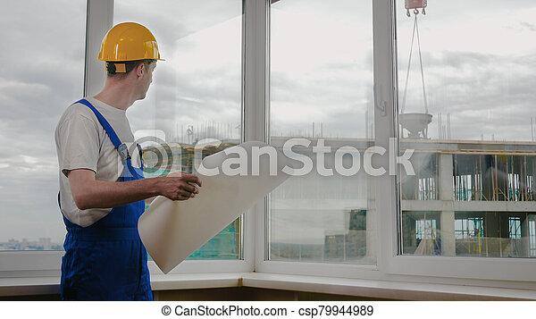 建設, 建造者, blueprint., 站點 - csp79944989