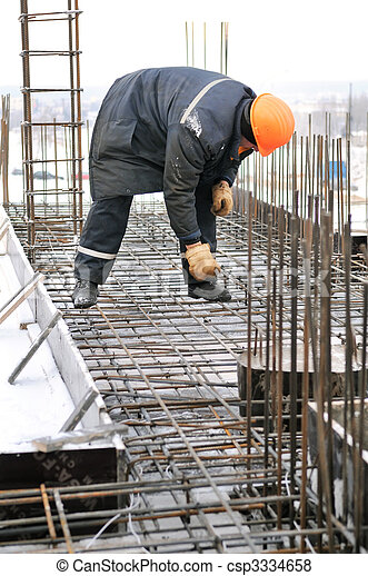 建造建筑物, 工人, 站點 - csp3334658