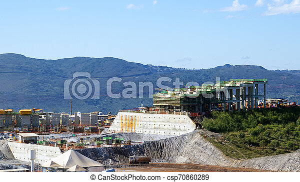 建造建筑物, 站點 - csp70860289