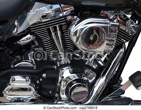 引擎, 特寫鏡頭, 摩托車 - csp2788918