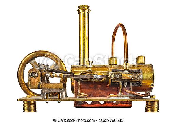 引擎, 葡萄酒, 白色, 被隔离, 蒸汽 - csp29796535