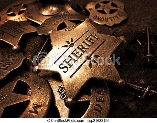 強制執行, 星, 錫, sheriff's, 法律, 徽章 - csp21633186